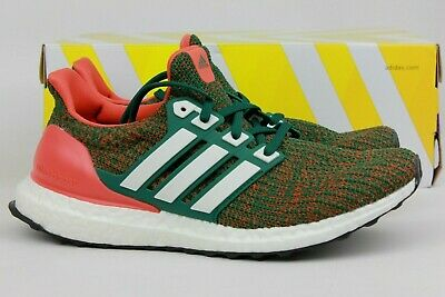 size 40 3daea 6f28e Adidas Originals Ultraboost 4.0 Miami Hurricanes Green Orange White Ee3702  New