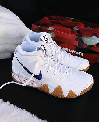 6c73fc67210 5 YOUTH Nike Kyrie 4 Uncle Drew Basketball White Royal blue Gum AO2897 100  5Y