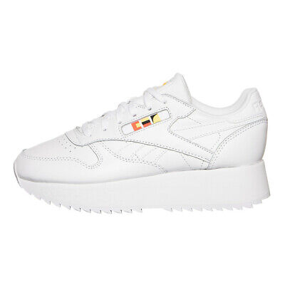 6d1ad38afe80 Reebok x Gigi Hadid - Classic Leather Double White   Neon Red   Black  Sneaker