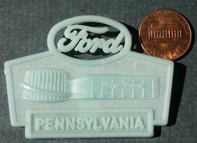 1964-65 World's Fair Ford Motor Cars Rotunda Pennsylvania glow in the dark pin!*