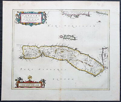 1657 Joan Blaeu Antique Map of Kintyre Peninsula Western Scotland, Argyll & Bute