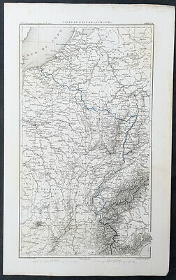 1835 M A Thiers Large Antique Map of France during the 2nd Revolution of 1830