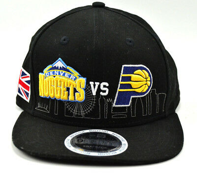 finest selection 36018 fdf18 Indiana Pacers vs Denver Nuggets London New Era 9fifty Snapback Cap Hat
