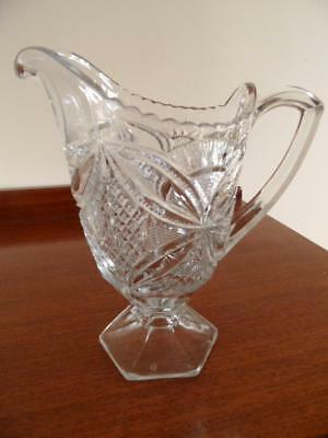 Antique Vintage Large Eapg Early American Pressed Glass Lemonade Water Jug