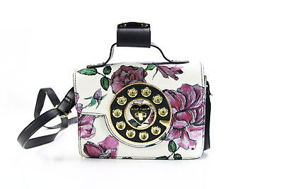 Betsey Johnson NEW White Gold Mini Floral Print Phone Crossbody $108- #008