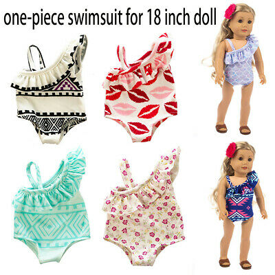 Cute One-piece Swimsuit Clothes Girl Toy For 18 inch Doll Accessory Girl's Toy
