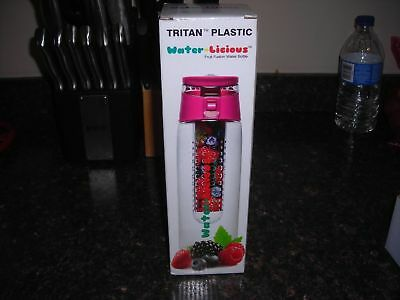 Fruit Fusion Infusing Water Bottle Infuser Sport Health Leak-proof Flip-Top 24OZ