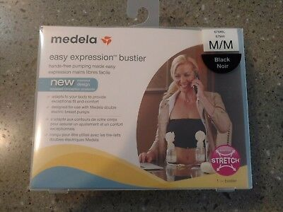 6b42b416e8 Medela Easy Expression Bustier medium Black HANDS FREE Double Pumping Bra  NEW