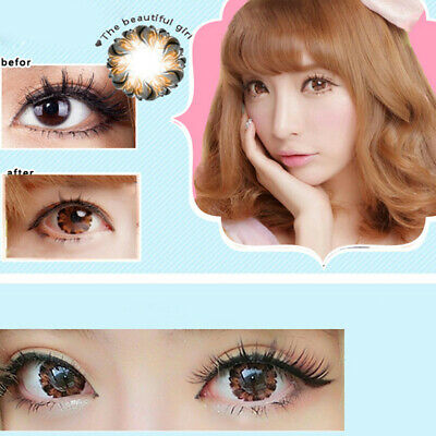Pudding Round Big Eyes Makeup Contact Lenses Party Christmas Cosplay Lindo