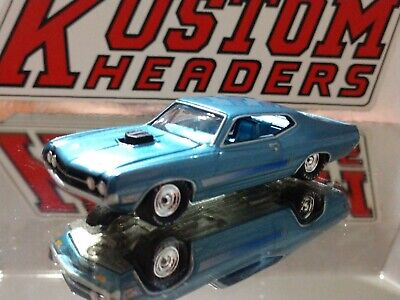 1970 Ford Torino Gt Muscle Car Limited Edition Adult Collectible 1/64 Blue