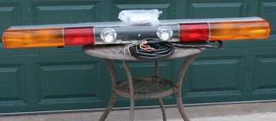 "NOS 1997 Federal Signal ATV 8000 61"" Strobe & Halogen Light Bar Rare European"