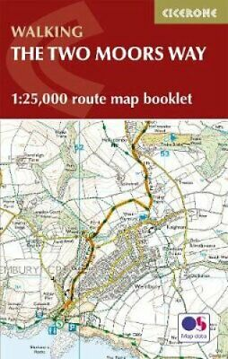 Two Moors Way Map Booklet 1:25,000 OS Route Mapping by Sue Viccars 9781786310071