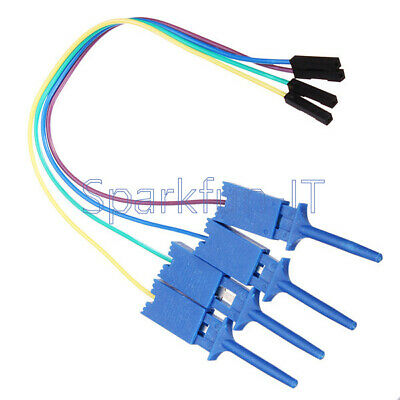 Test Clamp Wire Hook Test Clip for Logic Analyzer 4PCS