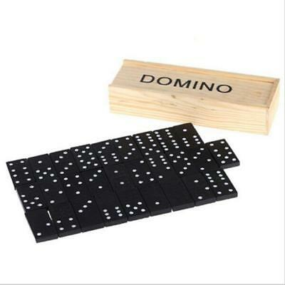 Professional Domino Tiles with Spinner in Wooden Box Table games CB