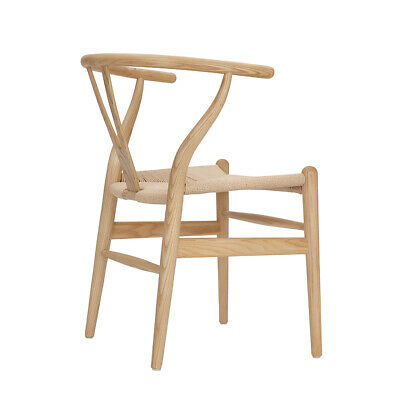Wishbone Chair Y Chair Solid Wood Dining Chairs Rattan Armchair Natural