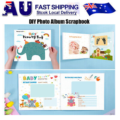 Partykindom DIY Creative Picture Album Photo Scrapbook for Family Record Babies