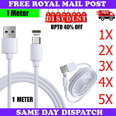 New 1M USB-C TypeC Charger Cable Data Transfer Cord Sync Lead For All Phones LOT