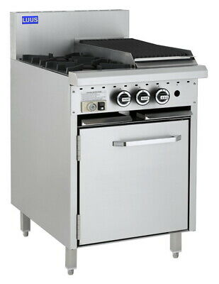 LUUS Essentials 2 Burner 300mm Chargrill & Oven Pilot Flame Fail CRO-2B3C-P LPG