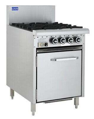 LUUS Essentials 4 Burner & Oven W/ Pilots & Flame Failure CRO-4B-P LPG