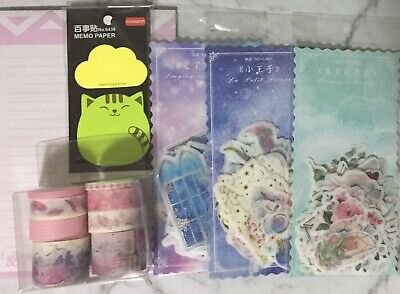 Bulk Stationery Washi Tape Set Stickers Sticky Notes To Do List Planner Supplies