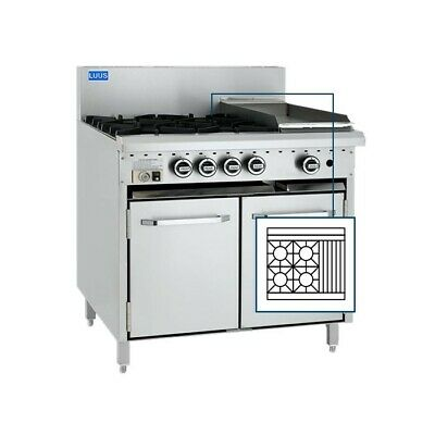 LUUS Essentials 4 Burner 300mm Chargrill & Oven Pilot & Flame Fail CRO-4B3C-P NG