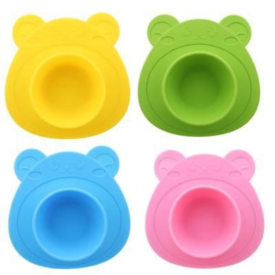 Cute Silicone Mat Baby Kids Suction Table Food Tray Plate Bowl CB