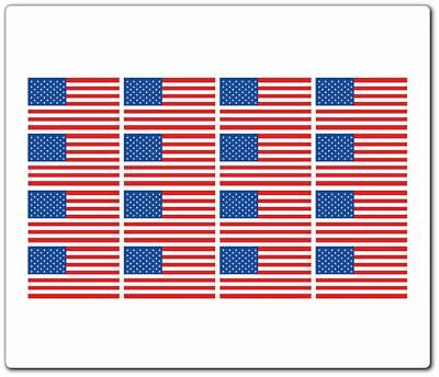 """16 American Flag Stickers (1/2"""" X 1"""") Tiny Hobby Color Stickers"""