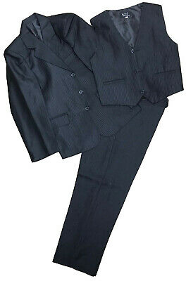 Boys 3 Piece Suit Formal Wedding Party Jacket Trousers Waistcoat 3 Colours Bnwt