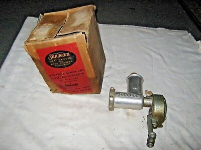 A Vintage Australian Sunbeam Mixmaster Meat Grinder,Food Chopper Attachment