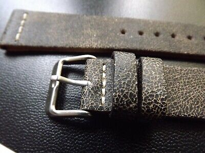Cinturino 20/18Mm Vera Pelle Hand Made In Italy Leatherband Strap Watch Vintage