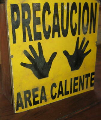 Charming Sign With Pair Of Hands Says Hot! Great Color,lettering Aafa Nr