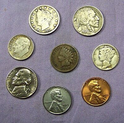Mercury Silver Dime and Roosevelt Starter Collection Lot of 8 Old US Coins