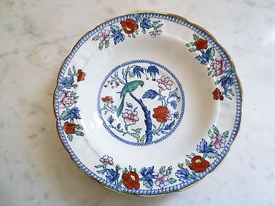 Assiette / Coupelle En Porcelaine Anglaise Decor Chinois Signee Booths England