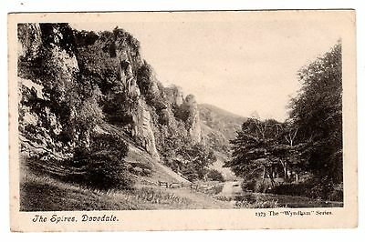 Vintage postcard The Spire, Dovedale. Wyndham Series. POSTAGE DUE 1d (242) 1904