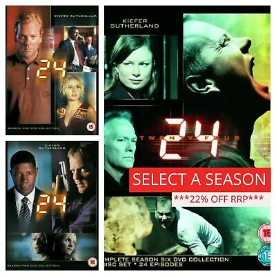 24 DVD Box Set Complete Collection 1-8 Season Series 123456789 Live another day