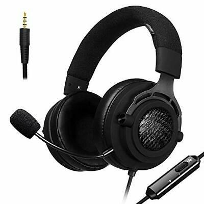 Stoff PS4 Gaming Headset mit Breathing Stirnband, 5.25ft Draht, 3,5 mm Mic La...