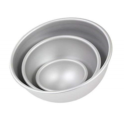 PME – Set di 3 palla torta padelle 4 in 6 in & 8 in – Ball pan