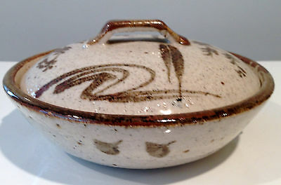 Old Japanese Japan Stoneware Covered Bowl