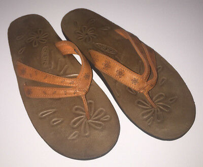01ecbb5e97b0 KEEN 38.5 8 Florence Leather Rust Orange Flip Flop Sandals -  23.14 ...