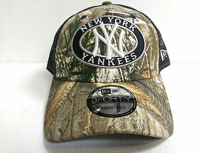 18cf29fee33a3 New York Yankees New Era 9Forty Cap Adjustable Mesh Patched Realtree Trucker  Hat