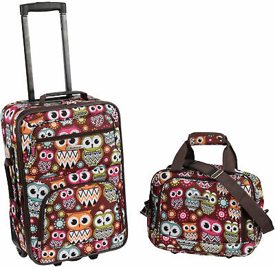 Owl Suitcase for Girls Cute Luggage for Women Travel Bag for Kids Gift Set of 2