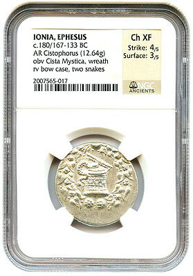 Precise 333-323 Bc Balakros Ar Stater Ngc Choice Xf ancient Grecque Byzantine (300-1400 Ad) Coins: Ancient
