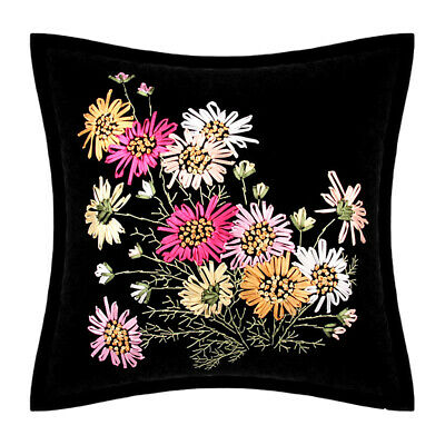 Ribbon Embroidery Kit Floral Blooming Flowers Daisy DIY Needlework 45x45cm