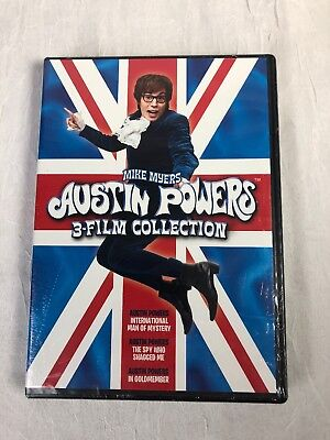 AUSTIN POWERS - 3 film Collection - DVD - Brand New - Free First Class Shipping!