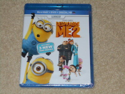 * (NEW) Despicable Me 2 Blu-ray + DVD + Digital HD Ultraviolet - FREE SHIPPING
