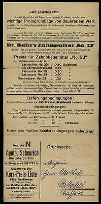 Germany 1923 August Inflation Meter Advertising Cover Last Day Rate 67216