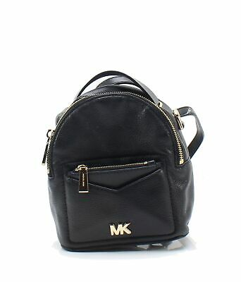 bd7ae5218cd8a Michael Kors Black Gold Jessa Mini Leather Convertible Backpack  228-  043