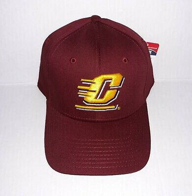bc9f559d Central Michigan University Chippewas 3D Embroidered Hat Flexfit Fitted Cap  L/XL