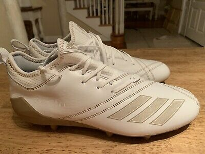 2604948e088d NEW Adidas Adizero 5 Star 7.0 White Leather Football Cleats Size 10.5 -  FREE SH