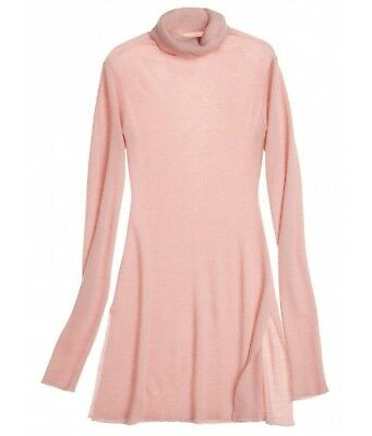 Mantissa Cashmere Turtleneck Tunic Calypso St. Barth Sweater Blush Pink  Ribbed 5cd360a3e5a81